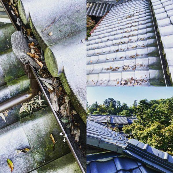 美濃市の秘密の場所で屋根掃除