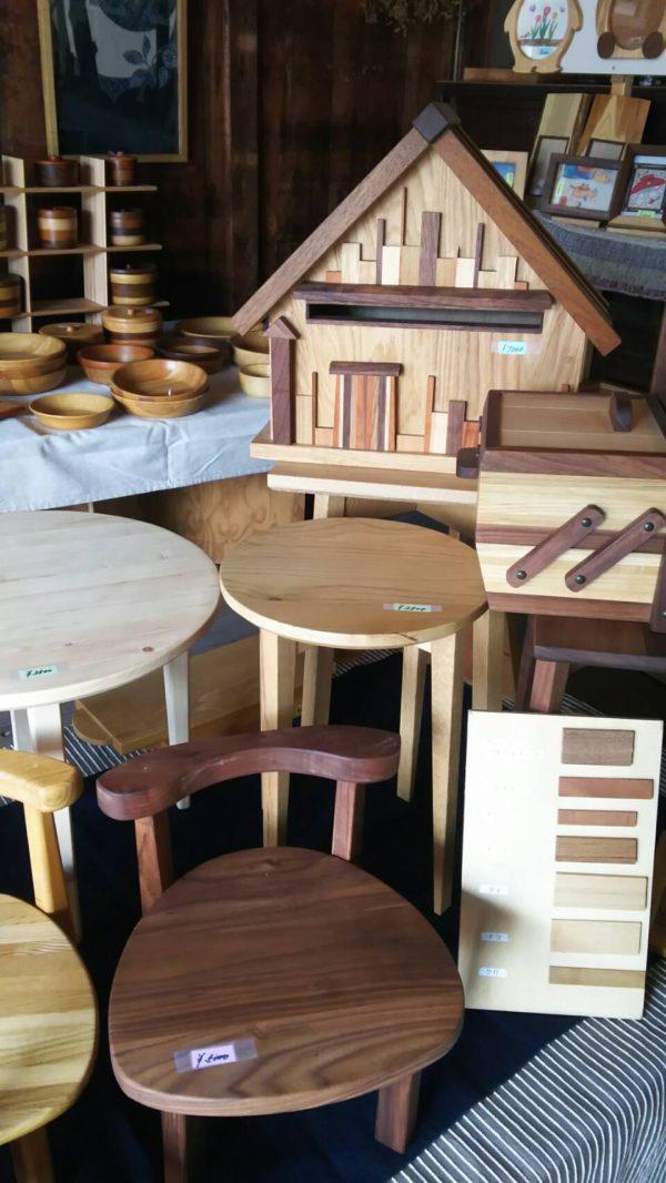 「セカンドライフoguma工房」さんの木の小物販売